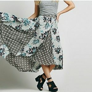 FREE PEOPLE Show off your maxi skirt--soft mint